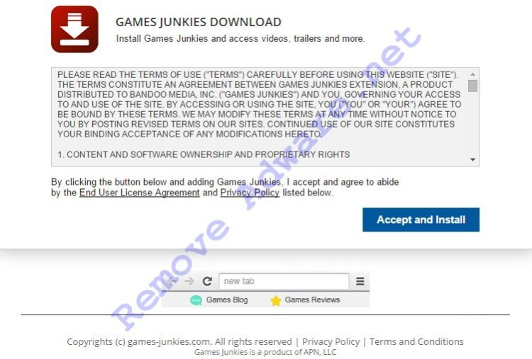 Games-Junkies.com ads remove