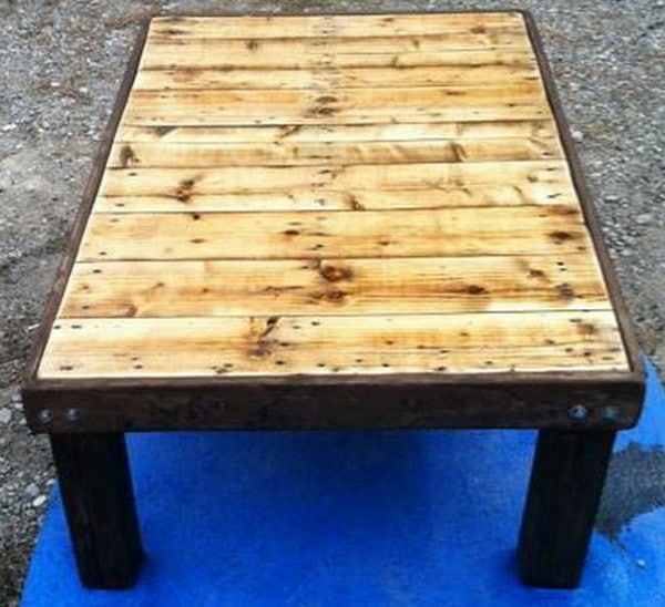 How To Make a Coffee Table out of a Wooden Pallet - Easy Low Cost DIY ...