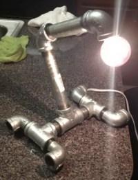 Build An Inexpensive DIY Plumbing Pipe Fittings Desk Lamp