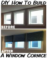 How To: Make Your Own DIY Cornice Window Treatment For ...