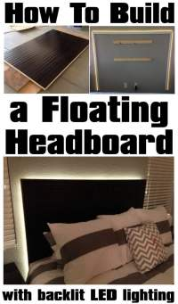 How To Make a Floating Headboard With LED Lighting ...