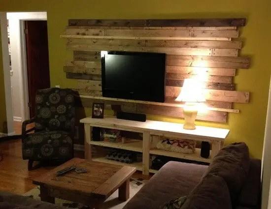Living Room Remodel Wooden Backsplash Makeover On A Budget