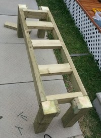 How To Build A Simple Patio Deck Bench Out Of Wood Step By ...