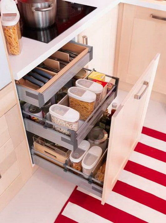 types of kitchen cabinets with sink 35 drawer organizing ideas - diy organized living ...