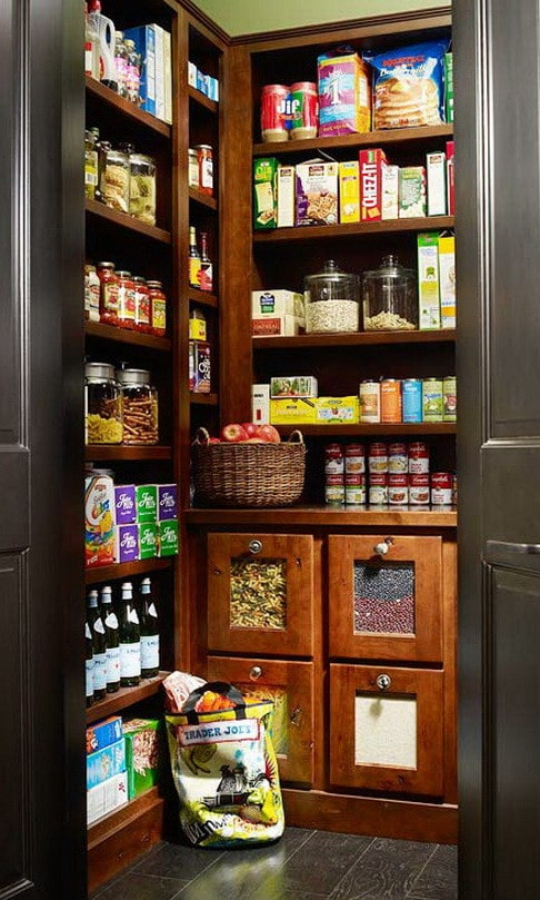 kitchen basket storage stock control sheet 31 pantry organization ideas - solutions ...