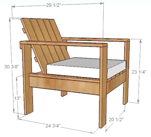 wooden lounge chair ikea bar covers how to build a simple diy outdoor patio dimensions