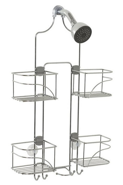 Expandable Shower Caddy for Hand Held Shower or Tall