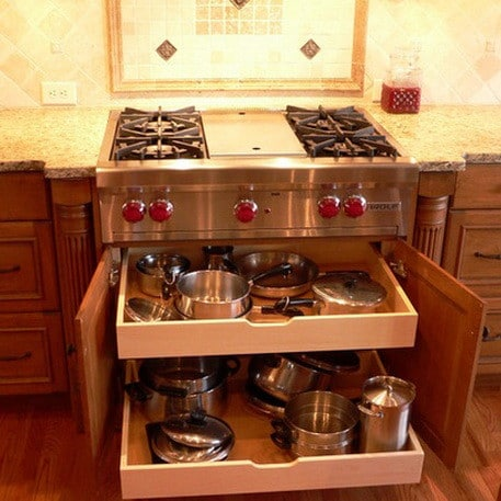 kitchen island with stove kohler sink 36 design ideas for small compact kitchens ...