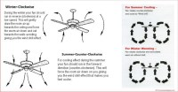 what direction should ceiling fans turn in the summer