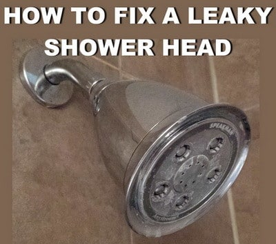 How To Fix A Leaky Shower Head Fast And Easy