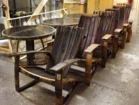 Handmade Whiskey And Wine Barrel Recycled Furniture ...