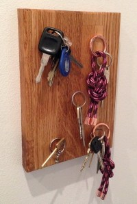 How To Make A DIY Wall Mounted Magnetic Key Holder ...