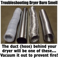 Burning Smell From Clothes Dryer