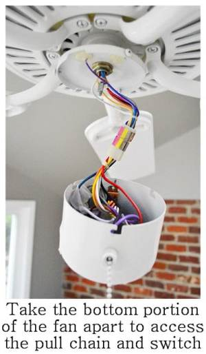 How To Fix A Ceiling Fan Light Switch Pull Chain | RemoveandReplace