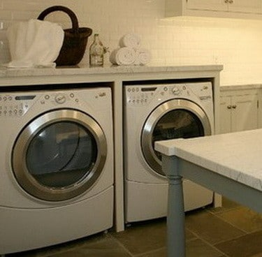 Diy Laundry Room Countertop Over Washer