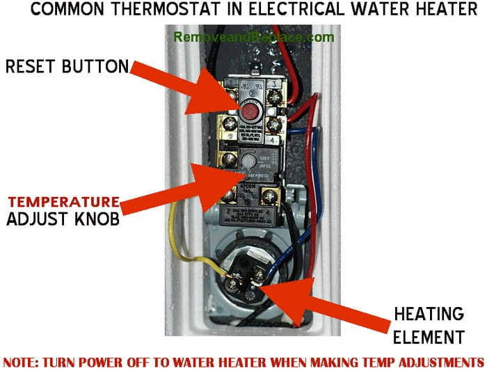 wiring diagram dual element hot water heater alternator how to change the temperature on your electric | removeandreplace.com