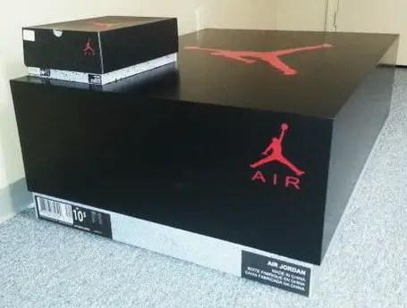 Huge Nike Sneaker Storage Solution Inspired By Air Jordan