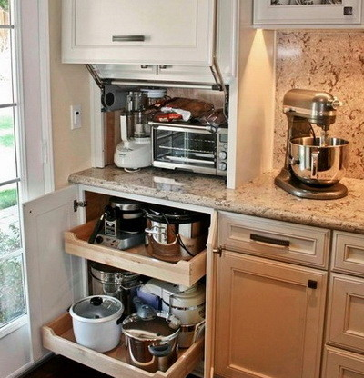 replace kitchen cabinets affordable outdoor kitchens 40 appliance storage ideas for smaller ...