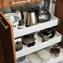 Repair Kitchen Cabinets Cheap Island With Seating 40 Appliance Storage Ideas For Smaller Kitchens ...