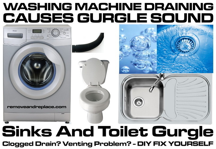 Washing Machine Draining Causes Sinks And Toilet To Gurgle  How To Fix  RemoveandReplacecom