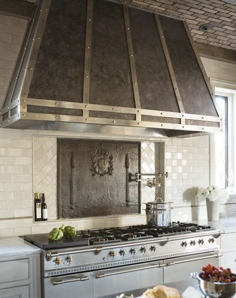 Kitchen Hood Designs. Enell Kitchen Hood with mexican blue tiles ...