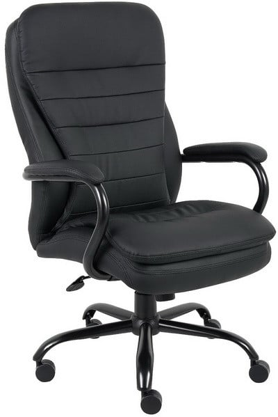 office chairs for heavy people childs desk and chair top 5 best big tall boss b991 cp duty double plush caressoftplus 350 pound