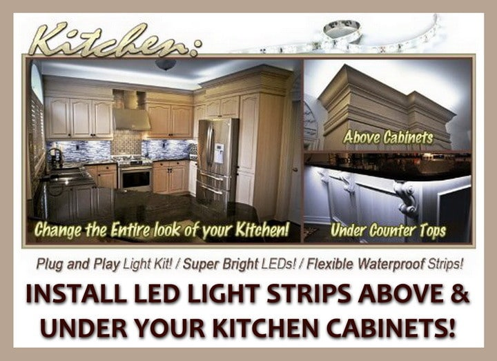 Terrific Rope Lighting Above Kitchen Cabinets Beutiful Home Inspiration Semekurdistantinfo