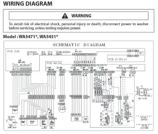 samsung dvr wiring schematic  samsung top load washer model wa5471 wa5451  troubleshooting