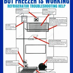 Ge Refrigerator Diagram Plant Cell Animal My Freezer Is Cold But The Warm - Us3