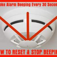 Smoke Detector Is Beeping Chirping Every 30 Seconds? - How To Reset?