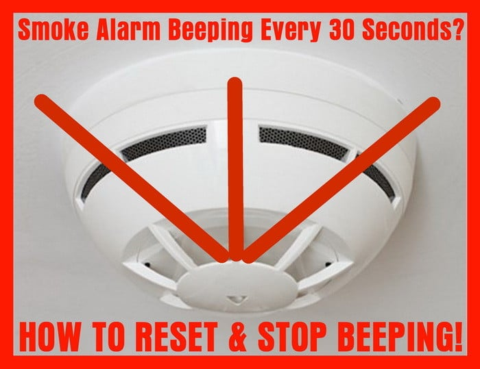 firex smoke detector wiring diagram hot rod download beeping chirping 30 seconds how to reset? | removeandreplace.com