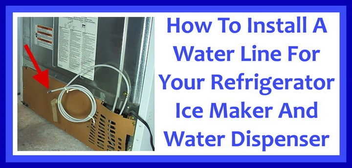 wiring diagram for whirlpool refrigerator wye delta motor starter how to install a water line your - easy step-by-step installation ...