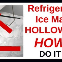 Kitchen Aid Ice Maker Delta Faucets Home Depot Refrigerator Makes Hollow Cubes - How To Fix ...