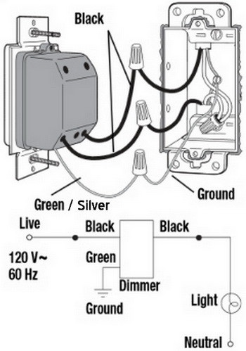 wire a light switch diagram loft wiring and schematics rv refrigerator new dimmer has aluminum ground can i attach to copper single pole one