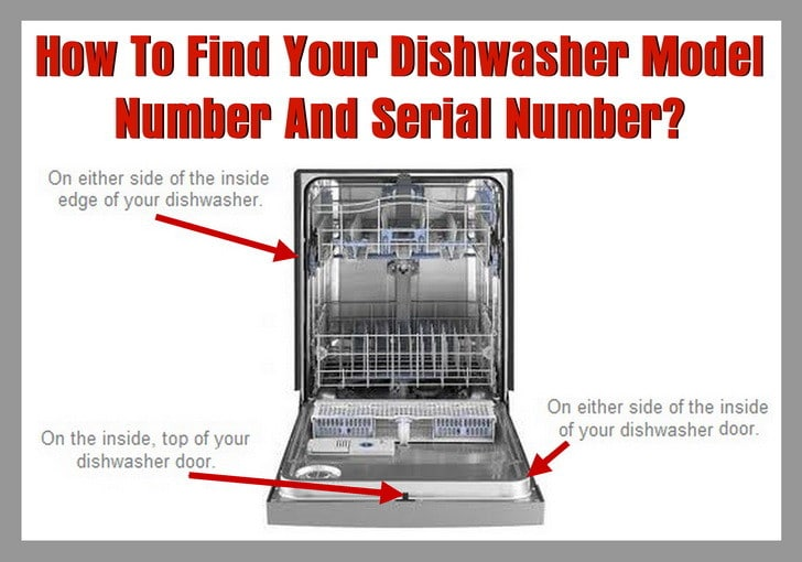How To Find Your Dishwasher Model Number And Serial Number  RemoveandReplacecom