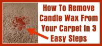 How To Remove Candle Wax From Your Carpet In 3 Easy Steps ...