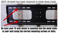 TV Flat Screen Wall Mount Coming Out Of Wall - How To Fix ...