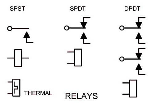 schematic symbols for switches