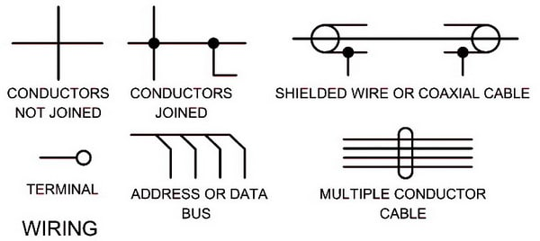 Electrical Wiring Schematic Diagram Symbols WIRING?ssl=1 electrical schematic symbols names and identifications ac wiring diagram symbols at crackthecode.co