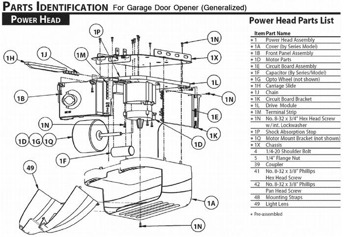 genie garage door parts diagram of a compound light microscope electric opener stopped working - no power green not lit | removeandreplace.com