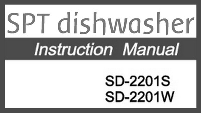 SPT Countertop Dishwasher Parts & Manual For Repairs