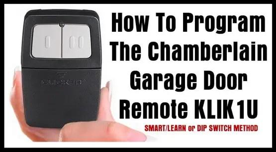 garage door remote programming softball positions diagram how to program the chamberlain klik1u | removeandreplace.com