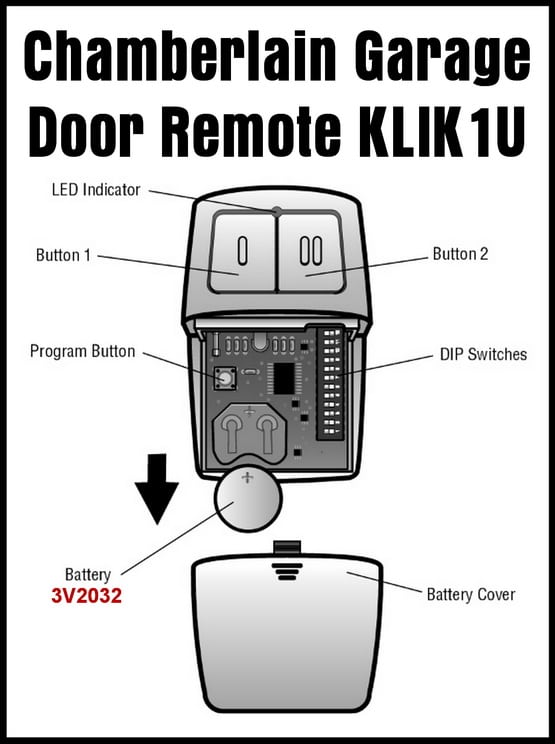 Image Result For How To Change The Battery In A Garage Door Opener