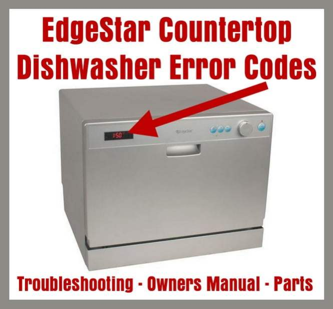 Edgestar Countertop Dishwasher Error