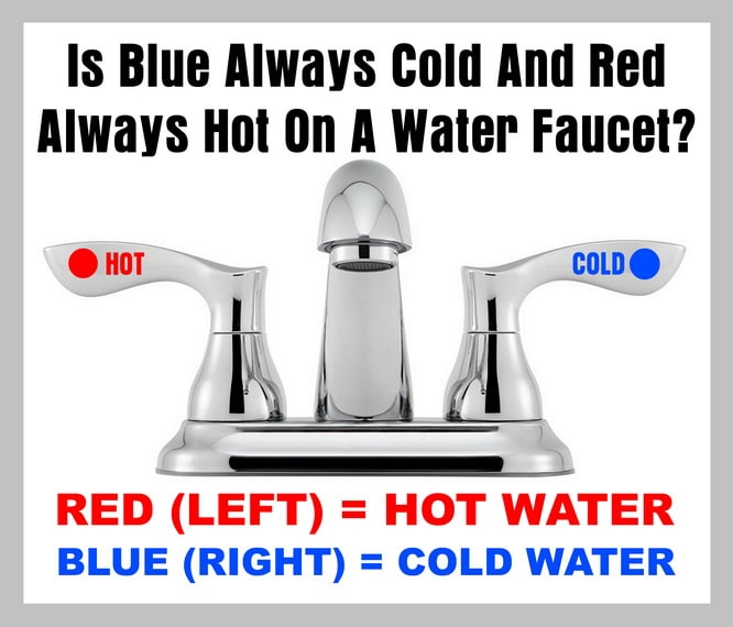 red always hot on a water faucet