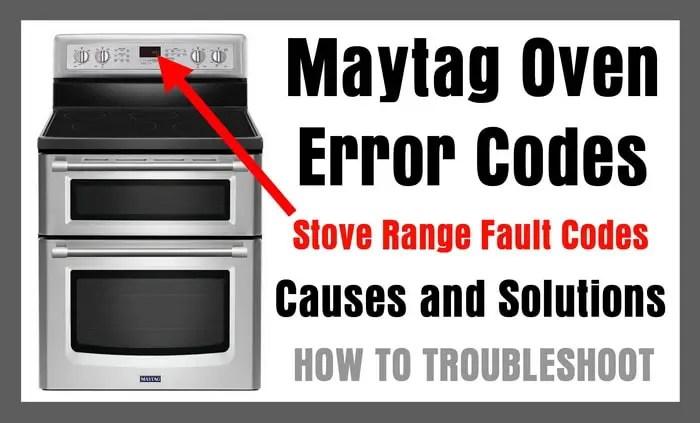 maytag oven error codes stove range