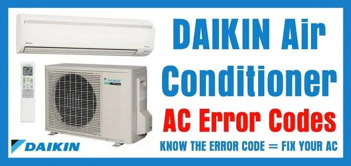 Appliance Wiring Diagram Symbols Daikin Air Conditioner Ac Error Codes Removeandreplace Com