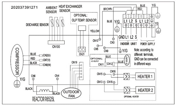 Trane Outdoor Unit Wiring Diagram 3 Wire Condenser Fan