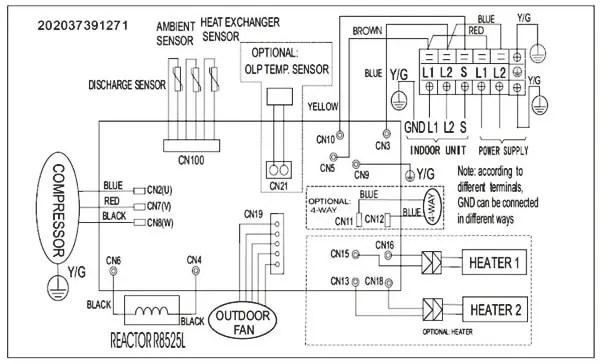 split ac wiring diagram hd friedland d107 doorbell instructions lg mini data pioneer schematic art cool mirror