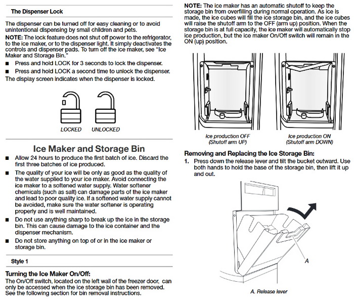 whirlpool conquest ice maker diagram ford focus 2005 audio wiring gold series refrigerator user guide and troubleshooting use 9